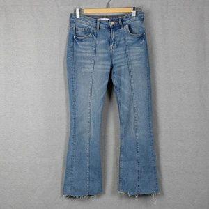 Zara z1975 Mini Flared Blue Jeans Crop